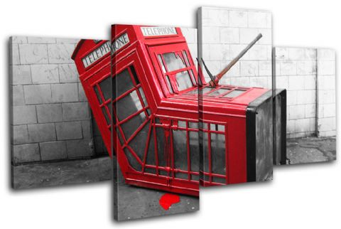 Telephone Box Banksy Street - 13-0780(00B)-MP04-LO